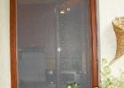 Fa ajtóra szerelt aranytölgy szúnyogháló