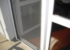 Műanyag ajtóra fehér szúnyogháló
