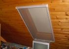 Lambériára szerelt tetőtéri szúnyogháló